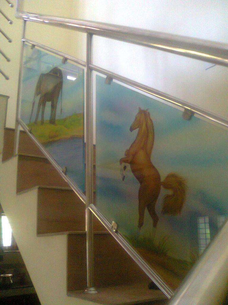 Glass Paintings Handrails Window Glass Paintings Kochi Kerala
