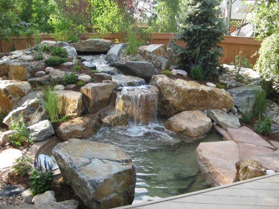 Fish Pond And Water Fall 1