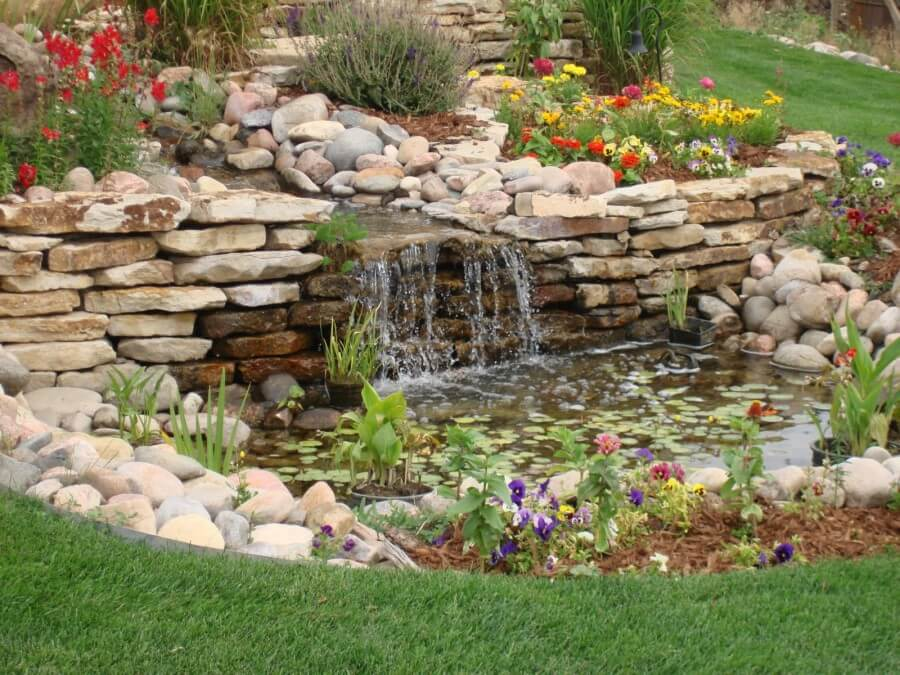 Fish Pond With Water Fall