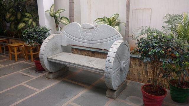 Awe Inspiring Natural Stone Garden Benches Tables Kerala India Bralicious Painted Fabric Chair Ideas Braliciousco