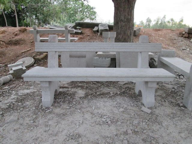 Fabulous Natural Stone Garden Benches Tables Kerala India Bralicious Painted Fabric Chair Ideas Braliciousco