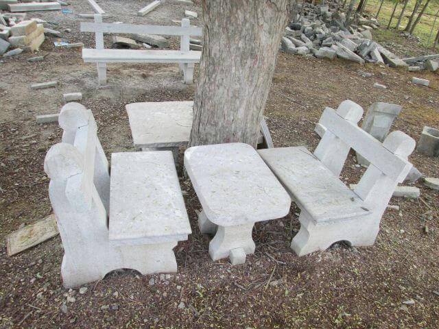 Strange Natural Stone Garden Benches Tables Kerala India Bralicious Painted Fabric Chair Ideas Braliciousco