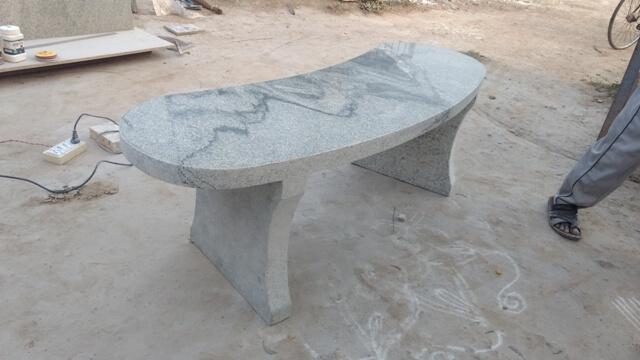Wondrous Natural Stone Garden Benches Tables Kerala India Bralicious Painted Fabric Chair Ideas Braliciousco