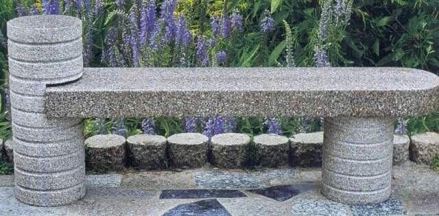 Amazing Natural Stone Garden Benches Tables Kerala India Bralicious Painted Fabric Chair Ideas Braliciousco